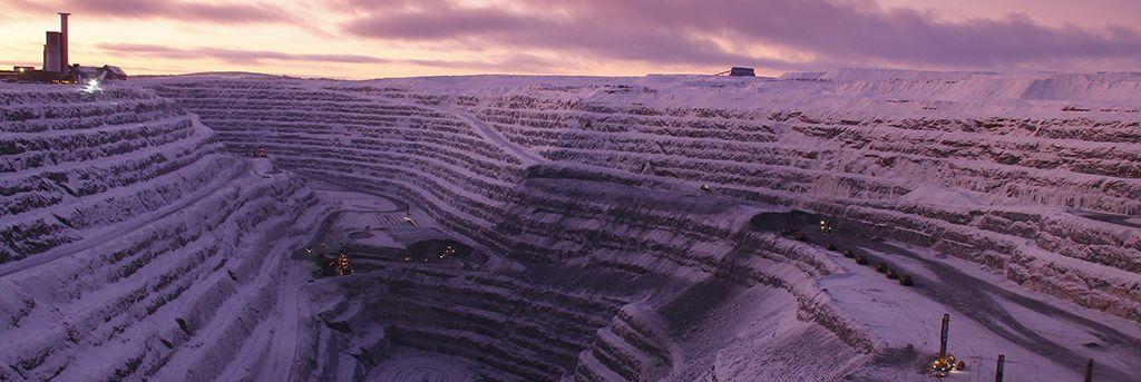 Boliden Aitik winter landscape